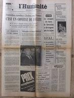 Journal L'Humanité (6 Juil 1972) Tour De France - Chaban Remplacé - Simonpieri- Abbaye Fontenay - Newspapers