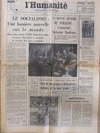 Journal L'Humanité (13 Sept 1972) Le Socialisme - Tomasini - Enquête : Police Ou Polices - Newspapers