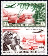 Comore-0011 - Valori Di Posta Aerea 1950-53 (+) LH - Senza Difetti Occulti. - Nuovi