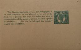 Australia // Queensland Newspaper Wrapper Half Penny Green Mint - 1860-1909 Queensland