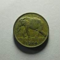 Belgian Congo 1 Franc 1944 - Congo (Belgian) & Ruanda-Urundi