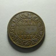 British India 1/4 Anna 1918 - Inde
