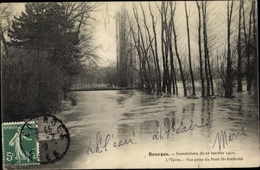 Cp Bourges Cher, Inondations Du 1910 - France