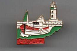 Pin's Bateaux Cancale Doré Or Fin...................BT13 - Villes