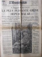 Journal L'Humanité (8 Juin 1972) Puissante Grève - ORTF Démantelement - - Newspapers