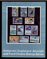 AUSTRALIAN ANTARCTIC TERRITORY (AAT) • 1973 • Antarctic Explorers' Aircraft & Food Chains - Presentation Pack • MNH (12) - Australian Antarctic Territory (AAT)
