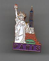 Pin's Paris Tour Eiffel Statue De La Liberté..............BT13 - Villes