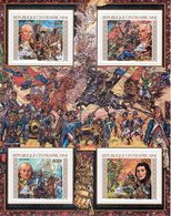 Centrafrica 1989, 200th French Revolution, Horse, Wind Mulin, Philexfrance89, BF IMPERFORATED - Central African Republic