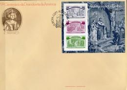 CEPT 1992 Portugal Block 89 FDC 8€ Entdeckung Amerikas Columbus Beim König Bloque Hb M/s Bloc Cover Sheet Bf Europa - 1910-... República