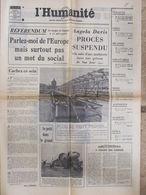 Journal L'Humanité (29 Mars 1972) Procès A Davis - Référendum - Charly/S.A.C - Socialisme En Hongrie - Newspapers