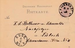 EP Michel P 10 Obl KALKENHORST Du 6.6.85 Adressé à Lübeck - Cartas