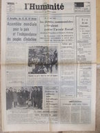 Journal L'Humanité (8 Fév 1972) Il Y A Dix Ans Charonne - Port Pirée - Satellite Entre France Et Antilles - Newspapers