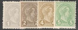 Luxemburg Yvert/Prifix 69/72** TB Sans Charnière Cote EUR 90 (numéro Du Lot 445EL) - 1895 Adolphe Right-hand Side