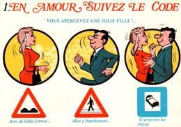 """CPM - ILLUSTRATION ALEXANDRE - Série """"En Amour Suivez Le Code"""" - Edition Lyna / N°637-1 - Alexandre"""