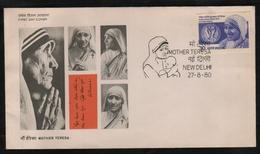 India  1980  Mother Teresa  Nobel Laurate  New Delhi FDC # 76382  Inde Indien - Mother Teresa