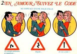 """CPM - ILLUSTRATION ALEXANDRE - Série """"En Amour Suivez Le Code"""" - Edition Lyna / N°637-2 - Alexandre"""