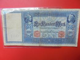 Reichsbanknote 100 MARK 1910 CIRCULER - [ 2] 1871-1918 : German Empire