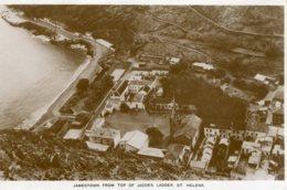 SAINT HELENA - RPPC - Jamestown From The Top Of Jacob's Ladder - Saint Helena Island