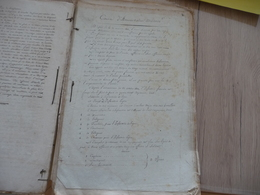 Archive Militaire Militaria Cours Dessins Plans XIXème Autour Des Fortifications 9 Documents + 160 Pages Lithographie - Documents