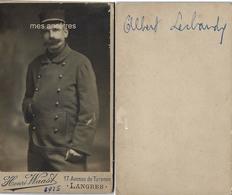 CDV En 1915-4e R- Albert  LER..... à Déchiffrer- Photo Henri WAAST à Langres - War, Military