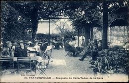 Cp Franconville Val D'Oise, Bosquets Du Cafe, Tabac De La Gare - France