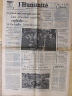 Journal L'Humanité (15 Sept 1972) Projet Budget - Conduire En 1972 - Concorde - Chalandon - Newspapers