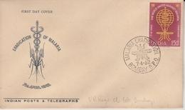 India 1962  Insect  Malaria Eradication BOMBAY  FDC # 19180  Inde Indien - Disease