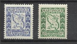 Martinique Taxe N° 27  Et  30      Neufs * *   TB     Soldé     ! ! ! - Timbres-taxe