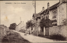 Cp Cesson Seine Et Marne, Rue De La Fontaine - France