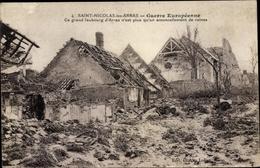 Cp Saint Nicolas Les Arras Pas De Calais, Grand Faubourg, Kriegszerstörungen, I. WK - France