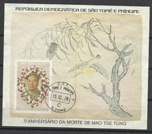 Sao Tome Et Principe Bloc N° 3 Oblitéré  Le 15 /12/1978 TB  1er Ann.mort De Mao Tsé-Tung Soldé   à Moins De  20 % ! ! ! - Mao Tse-Tung
