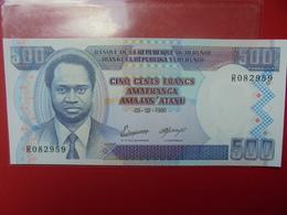 BURUNDI 500 FRANCS 1995 PEU CIRCULER/NEUF - Burundi