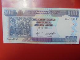 BURUNDI 500 FRANCS 1999 PEU CIRCULER/NEUF - Burundi