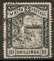 MALTA 1899 10s SG 35 TOP VALUE OF THE SET FINE USED Cat £65 - Malta (...-1964)