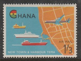 Ghana 1962 Airmail - Opening Of Tema Harbour 1'3 SH P Multicoloured SW 113 * LMM - Ghana (1957-...)