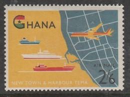 Ghana 1962 Airmail - Opening Of Tema Harbour 2'6 SH P Multicoloured SW 114 * LMM - Ghana (1957-...)