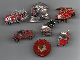 Pin's Pompiers Lot De Pin's, Gros Casque Pompiers D'anjou.......BT13 - Brandweerman