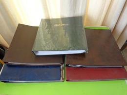 Lot De 5 Classeurs Pour Cartes Postales (ou Photos) - Supplies And Equipment