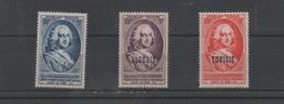 """France : Série """" Journée Du Timbre """" France , Algérie , Tunisie Timbres Neuf ** Année 1953 - Unused Stamps"""