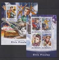 TT261 2016 DJIBOUTI MUSIC GRAND MUSICIAN  ELVIS PRESLEY KB+BL MNH - Elvis Presley