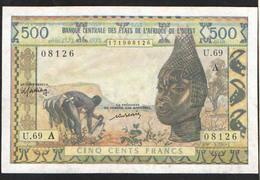 WEST AFRICA   500  1959 - Côte D'Ivoire