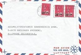 Reunion 1972 St Denis Marianne CFA Overprint Cover - Réunion (1852-1975)