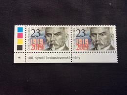2019 : Centenaire De La Création De La Monnaie Tchécoslovaque : Ministre Finances Alois Rasin - Neufs