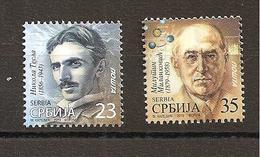 SERBIA 2019,NIKOLA TESLA,MILUTIN MILANKOVIC,DEFINITIVE STAMPS,MNH - Famous People