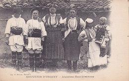 Jeunes Macédoniennes. écrite Dos Vert - Mazedonien