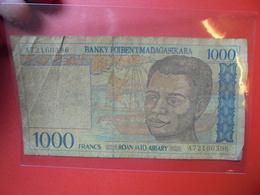 MADAGASCAR 1000 FRANCS TRES CIRCULER - Madagascar