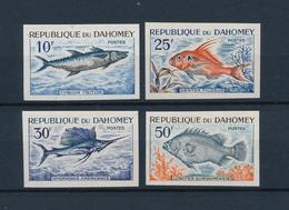 Dahomey 1965, Marine Life, Fish 4Val IMPERFORATED - Benin - Dahomey (1960-...)