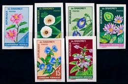 Dahomey 1967, Flora Flowers Blumen, 6val IMPERFORATED - Benin - Dahomey (1960-...)