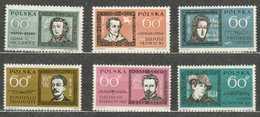 POLAND MNH ** 1172-1177 Adam Mickiewicz Slowacki Frédéric Chopin Général Traugutt Maria Konopnicka écrivain Musique - 1944-.... République