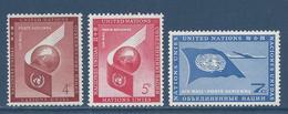 Nations Unies New York - YT PA N° 5 à 7 - Poste Aérienne - Neuf Sans Charnière - 1957 à 1959 - New York – UN Headquarters